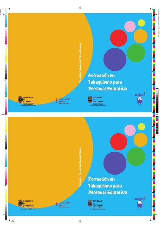 FORMACIÓN EN TABAQUISMO  PARA PERSONAL EDUCATIVO                1