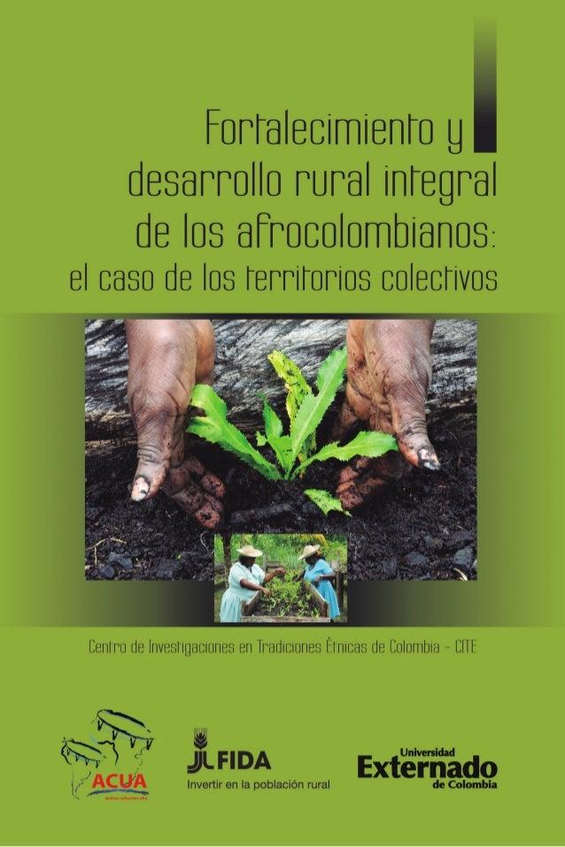 Fortalecimiento y desarrollo rural integral de los afrocolombianos: el caso de los territorios colectivos