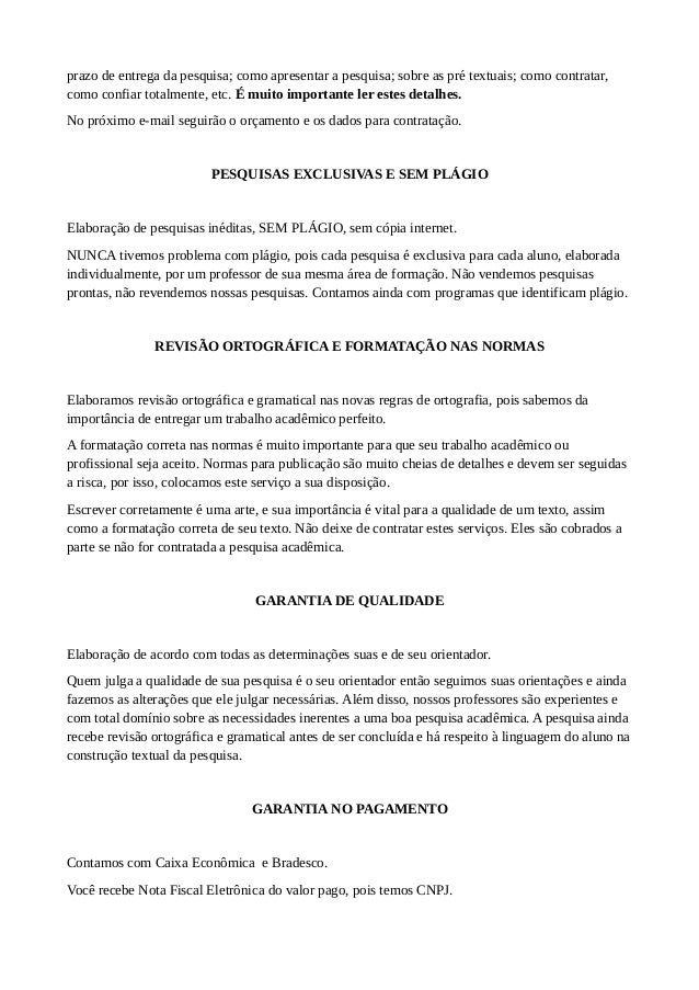 artigo, monografia e tcc por r$ 300,00 fortaleza170 Modelos De Artigos Cientificos #5