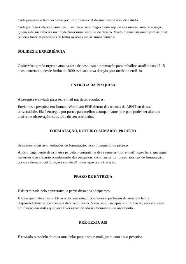 artigo, monografia e tcc por r$ 300,00 fortalezapesquisa responsÁvel; 4