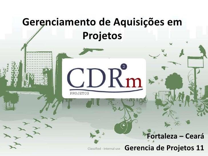 Gerenciamento de Aquisições em          Projetos                                              Fortaleza – Ceará           ...