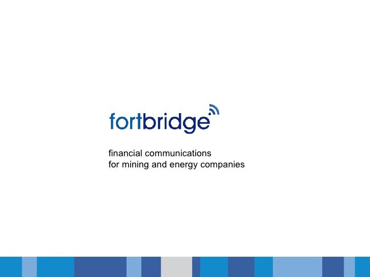 financial communicationsfor mining and energy companies