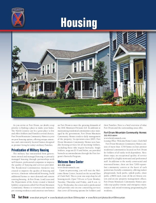 Fort Drum Post Guide 2014 – Fort Lewis On Post Housing Floor Plans