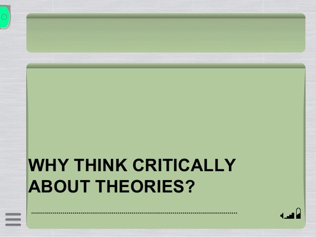Applying the critical thinking model