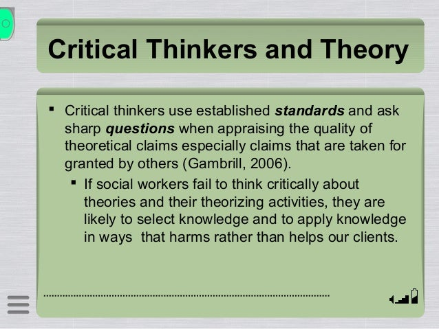 Ethical theories and critical refelction