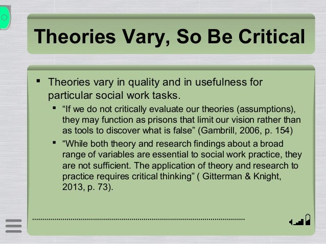 critical thinking theories