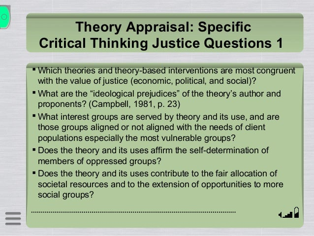 critical thinking model ethics Critical thinking – ethics relativism vs universalism relativism what is believed to be right and wrong may differ from individual to individual, group to group, society to society what is right or wrong may differ from individual to individual, group to group, society to society ethical subjectivism: an.