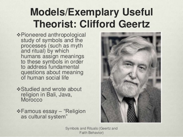An analysis of the approach of clifford geertzs the raid