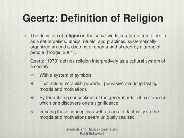 ... 7. Geertz: Definition ...