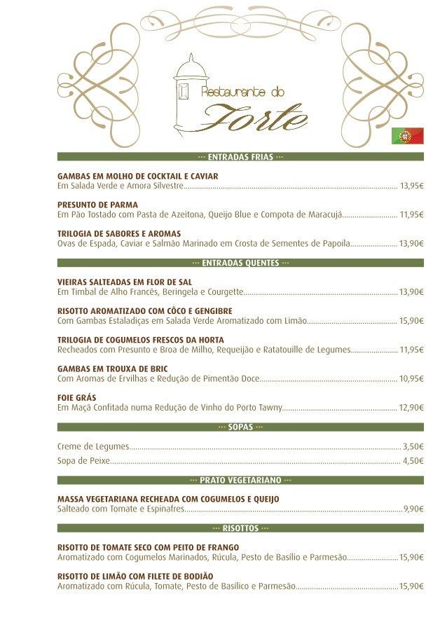 Portugalos Restaurant Menu