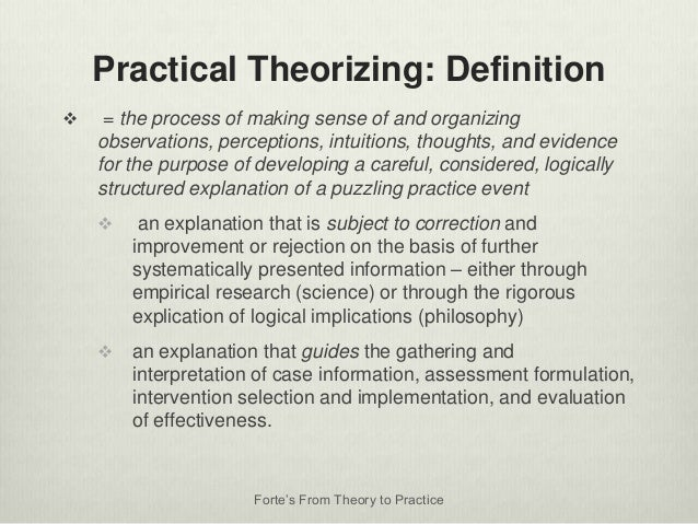 Charming Forteu0027s From Theory To Practice; 12. Practical Theorizing: Definition ...