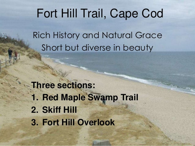 Fort Hill Trail, Cape Cod  Rich History and Natural Grace  Short but diverse in beauty  Three sections:  1. Red Maple Swam...