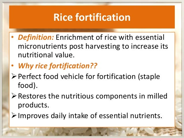 Fortified Foods Definition Food