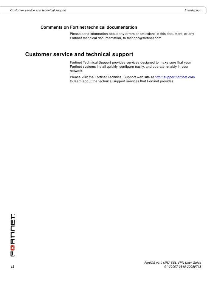 Forti Gate Ssl Vpn User Guide 01 30007 0348 20080718