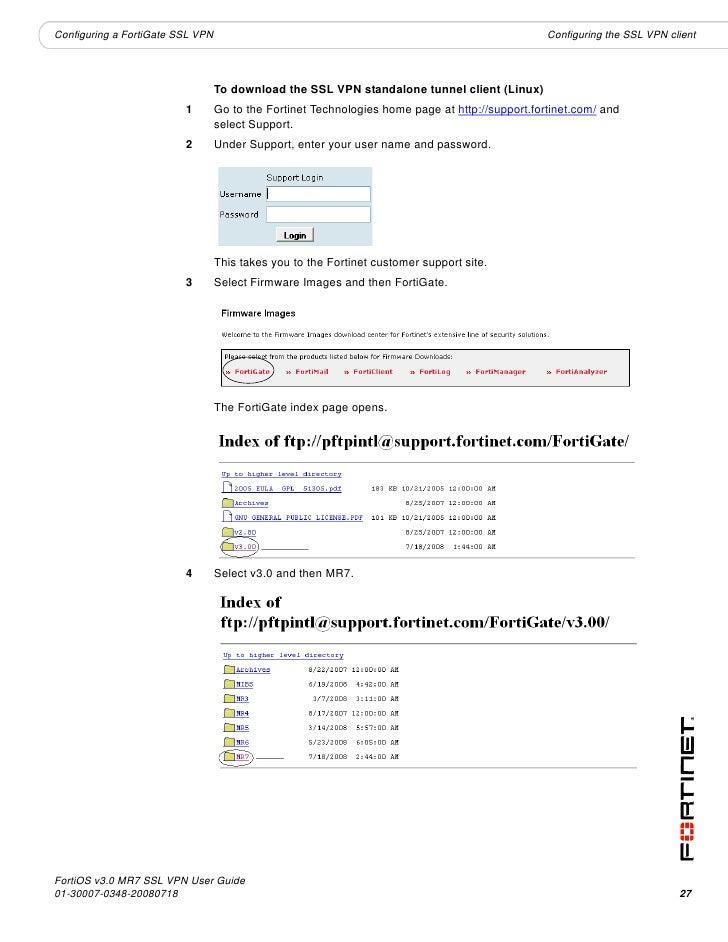 Fortinet vpn client software download