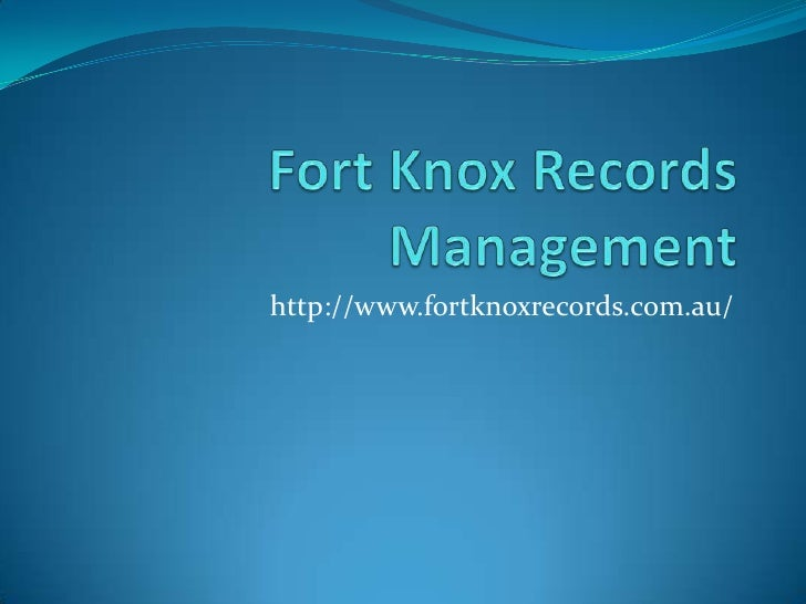 http://www.fortknoxrecords.com.au/