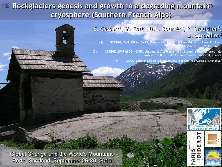 Rockglaciers genesis and growth in a degrading mountain           cryosphere (Southern French Alps)                       ...