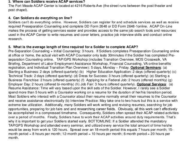 Fort Meade ACAP Information
