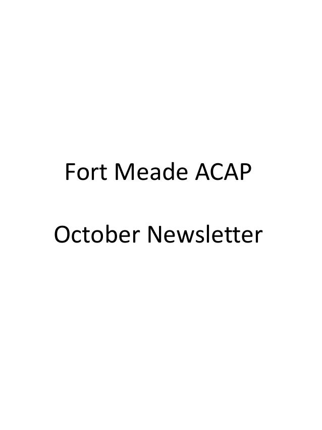 Fort Meade ACAP October Newsletter