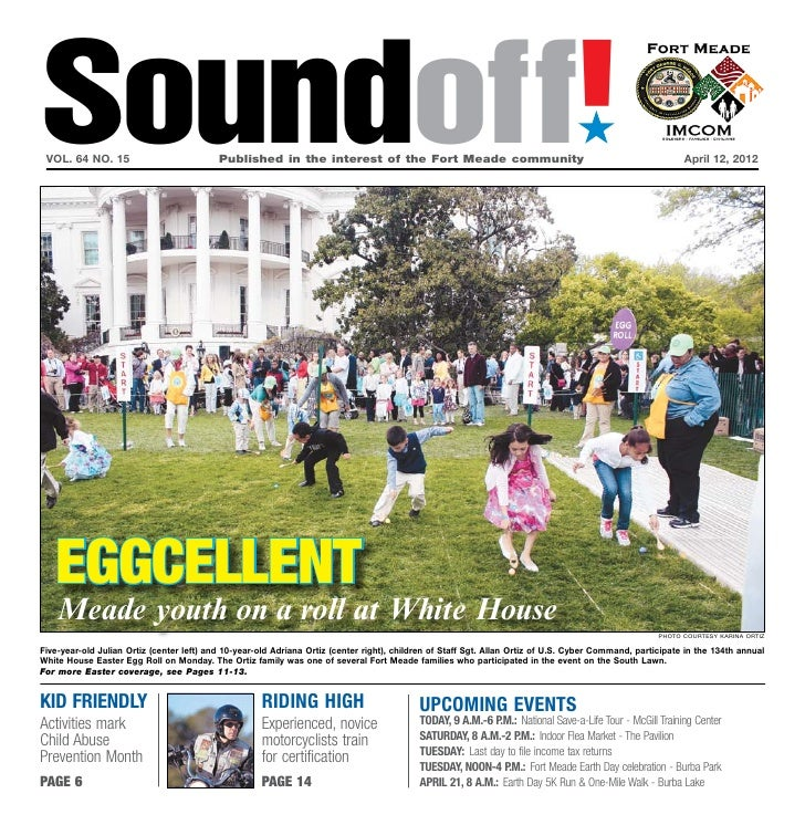 Soundoff! vol. 64 no. 15	                           Published in the interest of the Fort Meade community	                ...