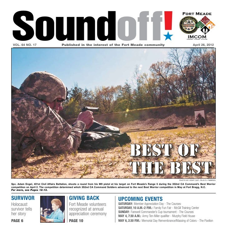 Soundoff! vol. 64 no. 17                        Published in the interest of the Fort Meade community                   ...