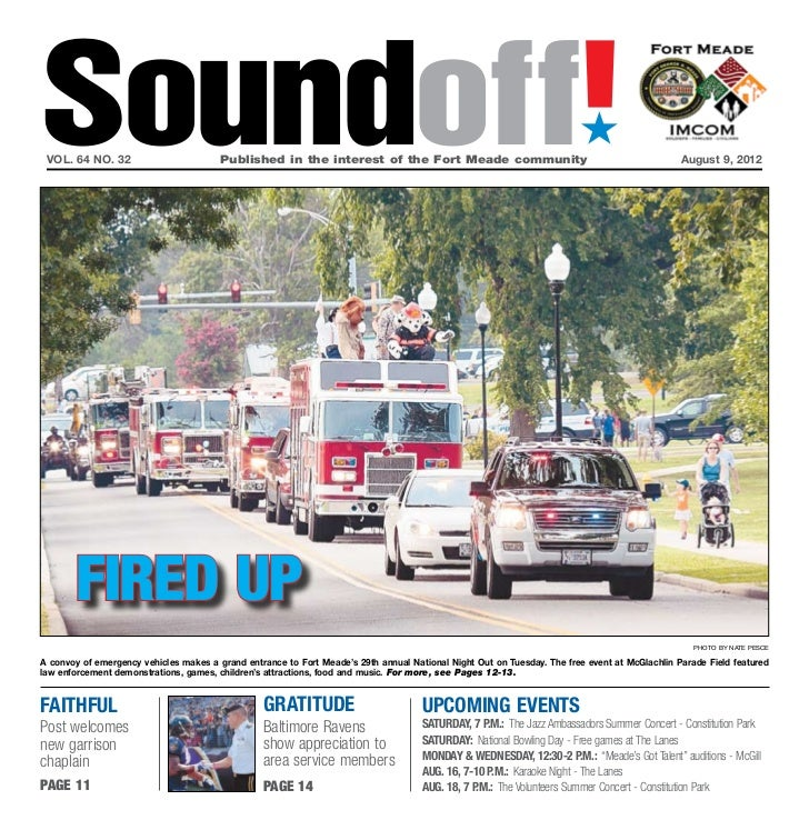 Soundoff! vol. 64 no. 32                        Published in the interest of the Fort Meade community                   ...