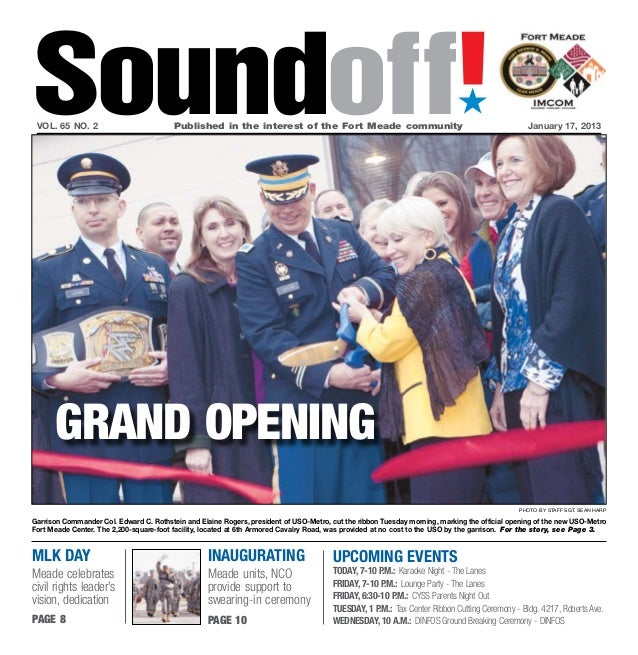 Soundoff! vol. 65 no. 2	                          Published in the interest of the Fort Meade community	                  ...