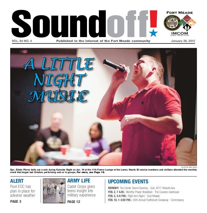 Soundoff! vol. 64 no. 4                           Published in the interest of the Fort Meade community                   ...