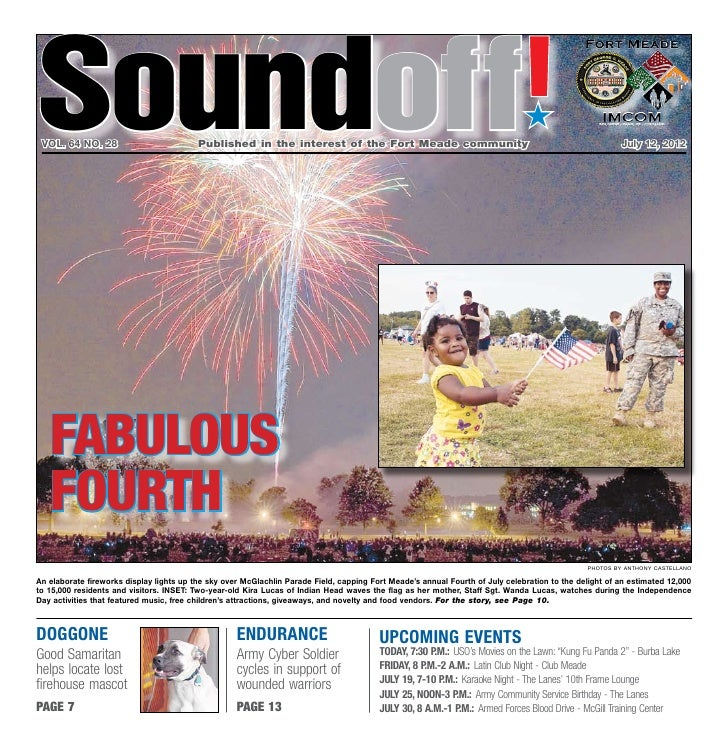Soundoff vol. 64 no. 28                          Published in the interest of the Fort Meade community                  ...