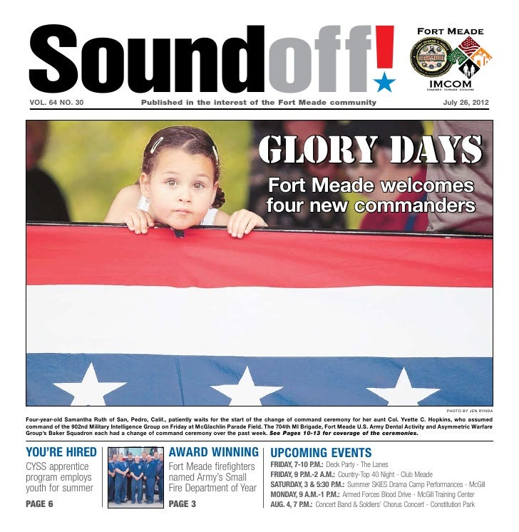 Soundoff! vol. 64 no. 30	                         Published in the interest of the Fort Meade community	                  ...