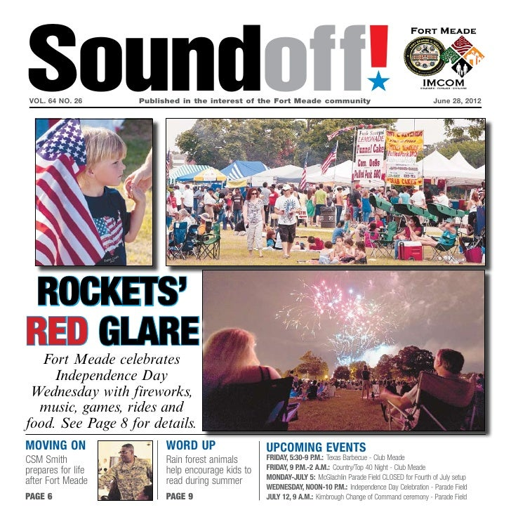 Soundoff! vol. 64 no. 26	    Published in the interest of the Fort Meade community	                                       ...