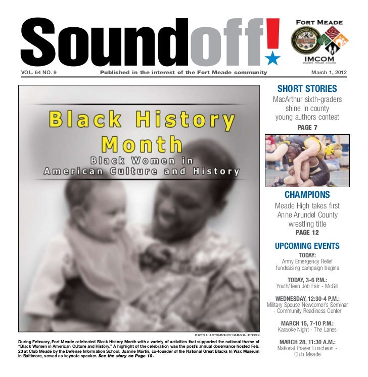 Soundoff! vol. 64 no. 9                           Published in the interest of the Fort Meade community                 ...