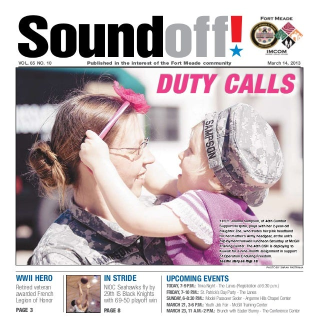 Soundoff!vol. 65 no. 10   Published in the interest of the Fort Meade community                                         ...