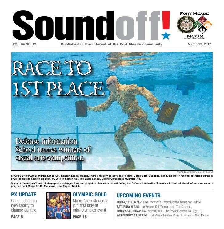 Soundoff! vol. 64 no. 12                        Published in the interest of the Fort Meade community                   ...