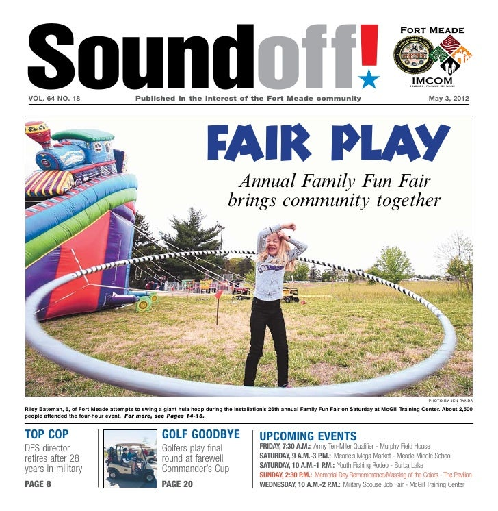 Soundoff! vol. 64 no. 18                          Published in the interest of the Fort Meade community                 ...