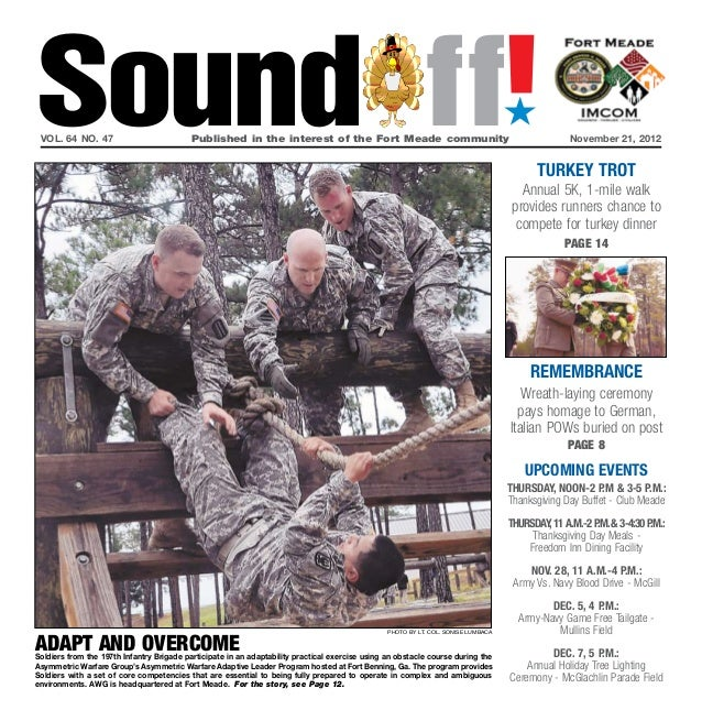 Sound ff! vol. 64 no. 47                           Published in the interest of the Fort Meade communityNovember 21, 201...