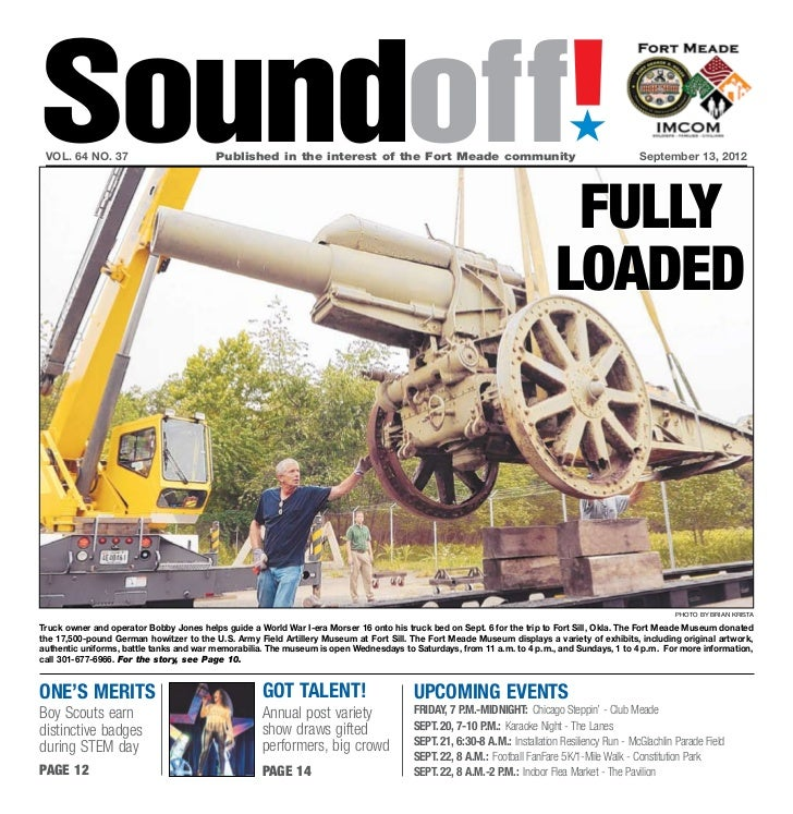 Soundoff! vol. 64 no. 37                         Published in the interest of the Fort Meade community                  ...