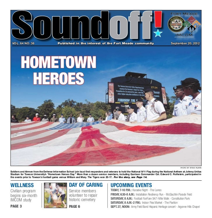 Soundoff vol. 64 no. 38	                          Published in the interest of the Fort Meade community	                  ...