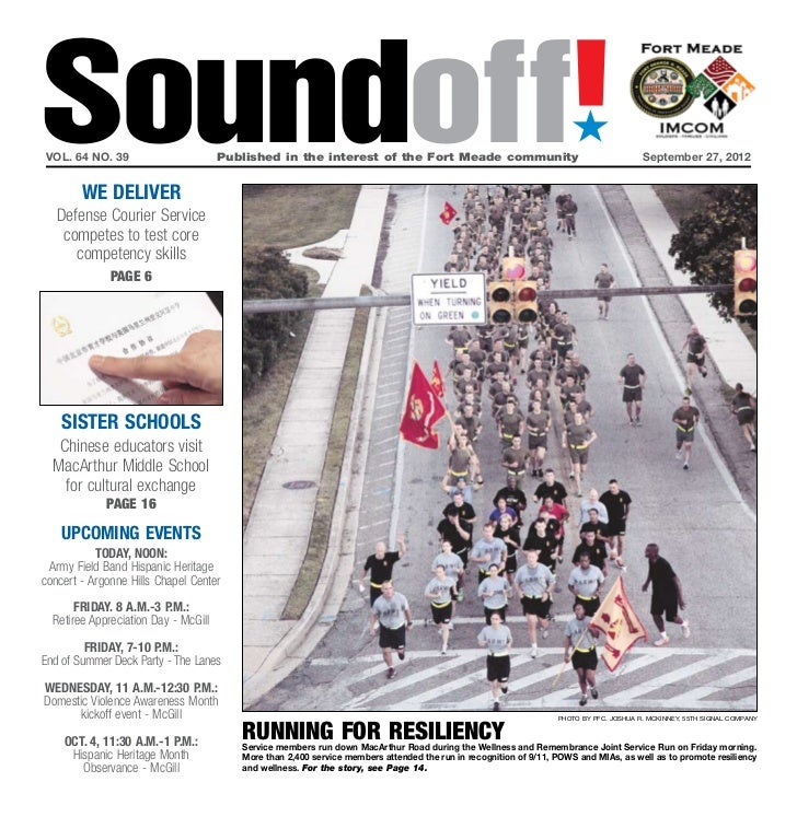 Soundoff!vol. 64 no. 39	        we deliver                                      Published in the interest of the Fort Mead...