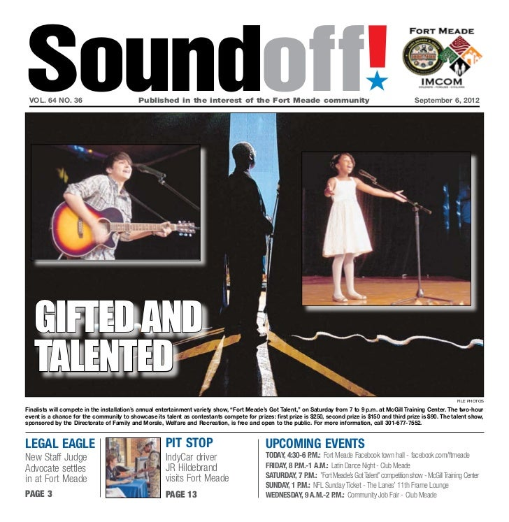 Soundoff! vol. 64 no. 36	                           Published in the interest of the Fort Meade community	                ...