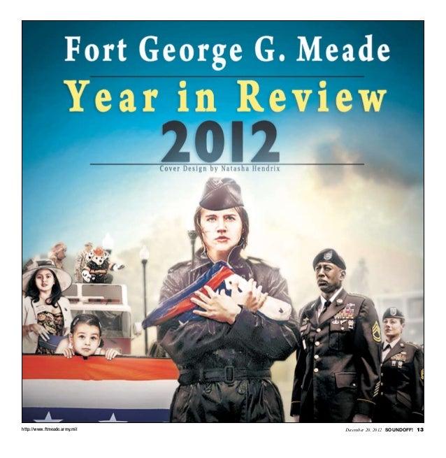 http://www.ftmeade.army.mil   December 20, 2012 SOUNDOFF! 13