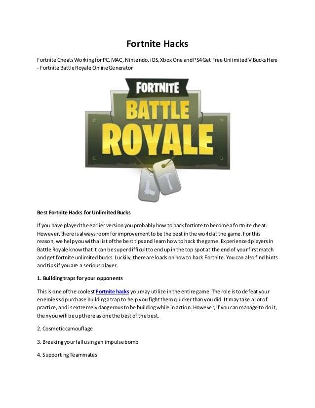 xbox one fortnite battle royale hacks