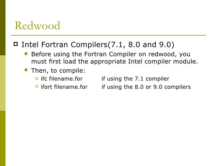 Fortran compiling 2