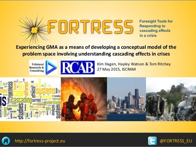 @FORTRESS_EUhttp://fortress-project.eu Kim Hagen, Hayley Watson & Tom Ritchey 27 May 2015, ISCRAM Experiencing GMA as a me...
