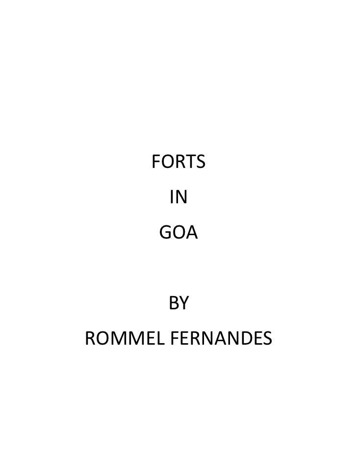FORTS       IN      GOA       BYROMMEL FERNANDES