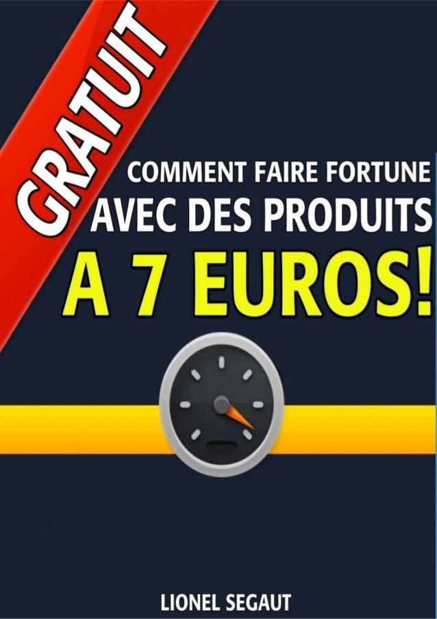 Besoin de créer 50 produits à 7 € ? - Cliquez ici pour le faire en 48 heures... 1