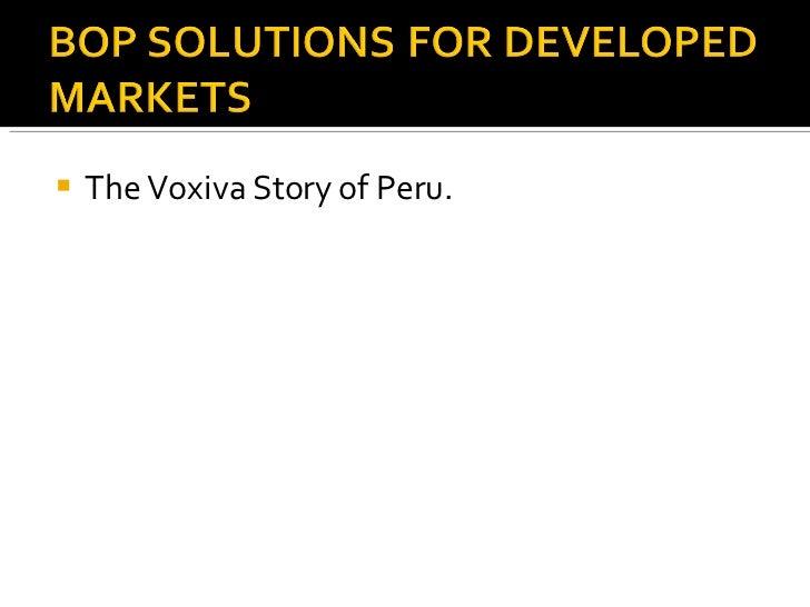 <ul><li>The Voxiva Story of Peru. </li></ul>