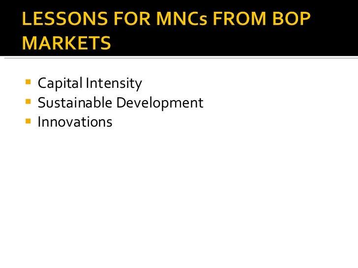<ul><li>Capital Intensity </li></ul><ul><li>Sustainable Development </li></ul><ul><li>Innovations </li></ul>