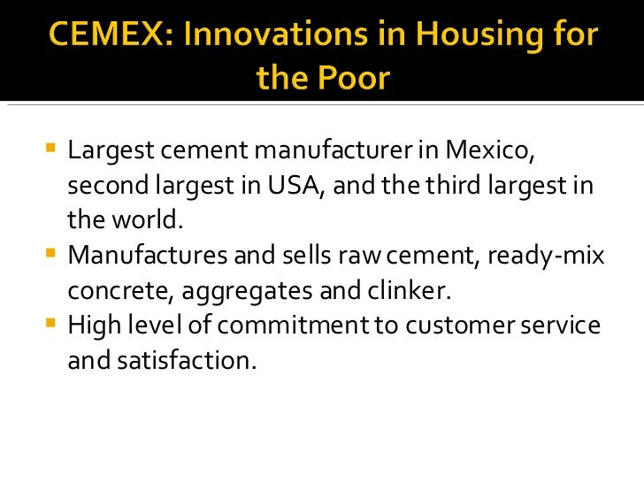 <ul><li>Largest cement manufacturer in Mexico, second largest in USA, and the third largest in the world. </li></ul><ul><l...