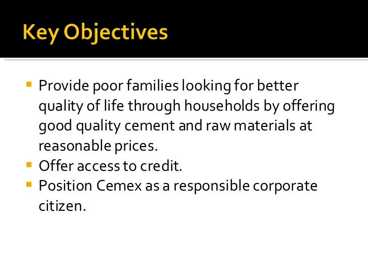 <ul><li>Provide poor families looking for better quality of life through households by offering good quality cement and ra...